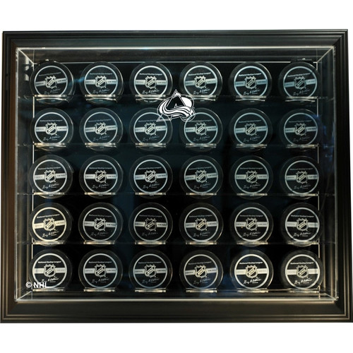 Caseworks International NHL Thirty Puck ''Case-Up'' Logo Display Case