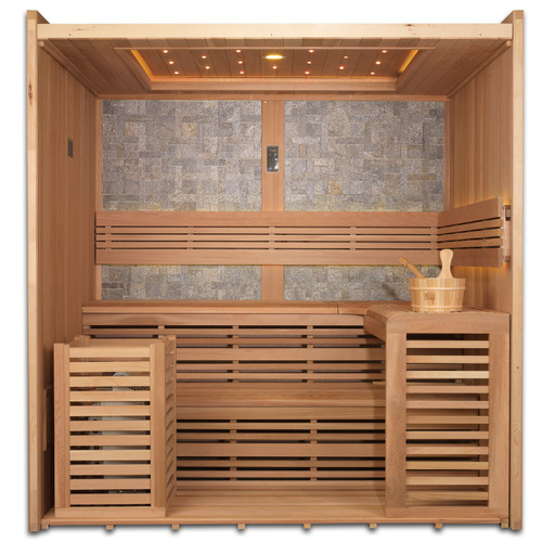 Dynamic Infrared 4-6 Person Ceramic FAR infrared Sauna by Geopot