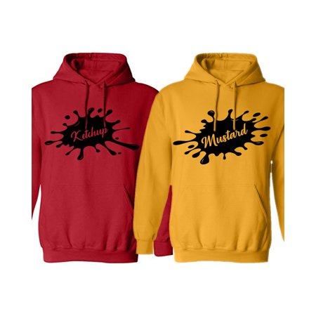 buy popular b1ece a1028 Awkward Styles Ketchup and Mustard Couple Hoodies Matching Hoodie Sweaters  Cute His and Hers Gifts Funny Valentine s Day Collection Couples Hoodie ...