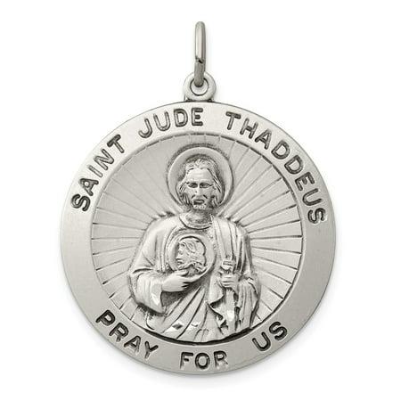 925 Sterling Silver Saint Jude Thaddeus Medal Pendant
