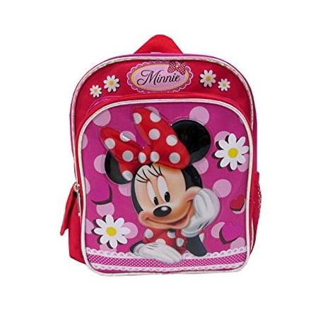 Mini Backpack - - Minnie Mouse - Red Flowers New 053115