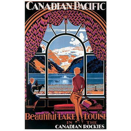 Canadian Pacific, Beautiful Lake Louise Vintage Advertising Art Print