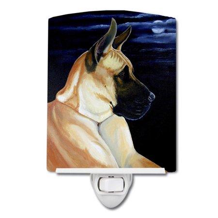 Fawn Great Dane in the Moonlight Ceramic Night Light