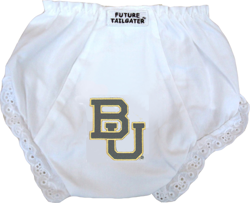 Baylor Bear Eyelet Baby Diaper Cover by Future Tailgater