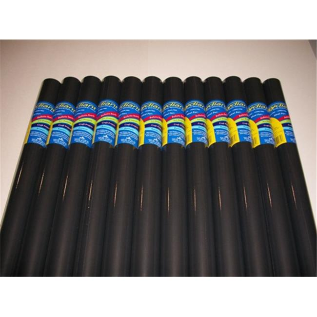 RiteCo Raydiant 80141 Riteco Raydiant Fade Resistant Art Rolls Black 24 In. X 12 Ft. 12 Pack