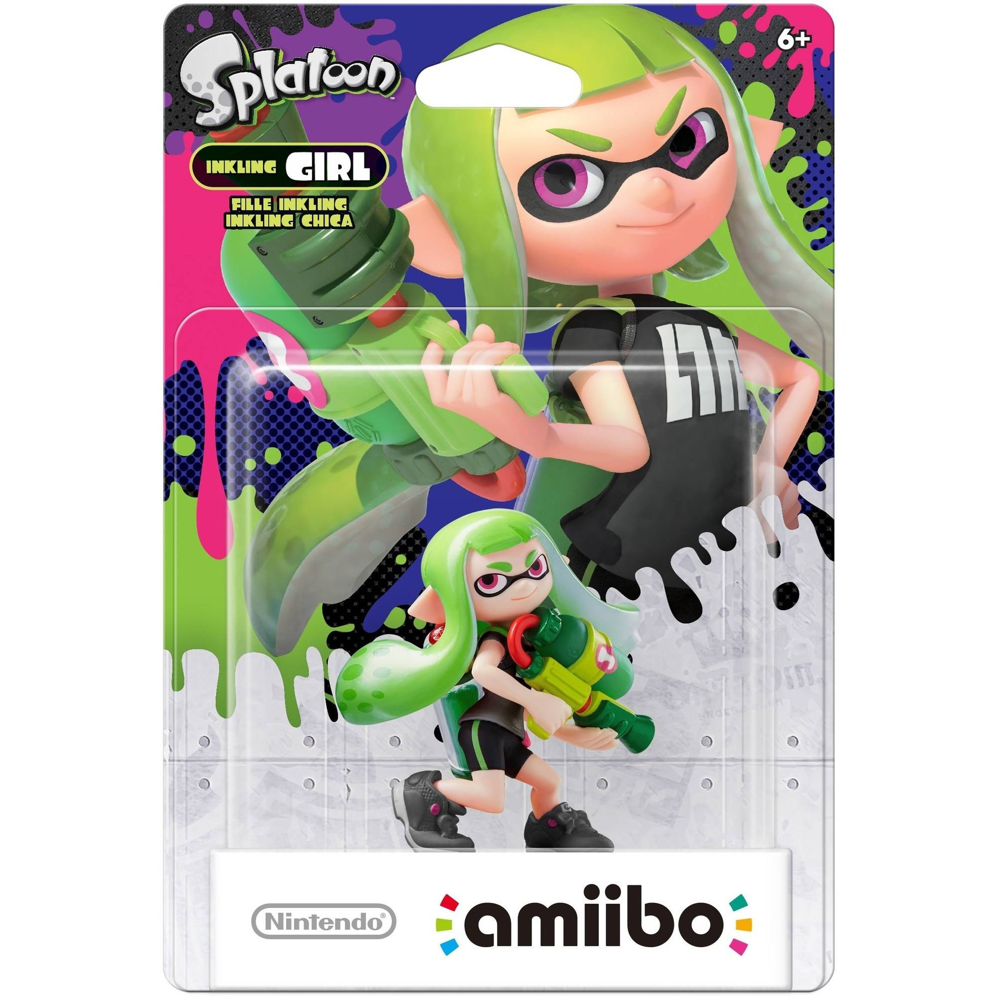 Inkling Girl Alternate Color Splatoon Series amiibo 2-pack (Wii U)