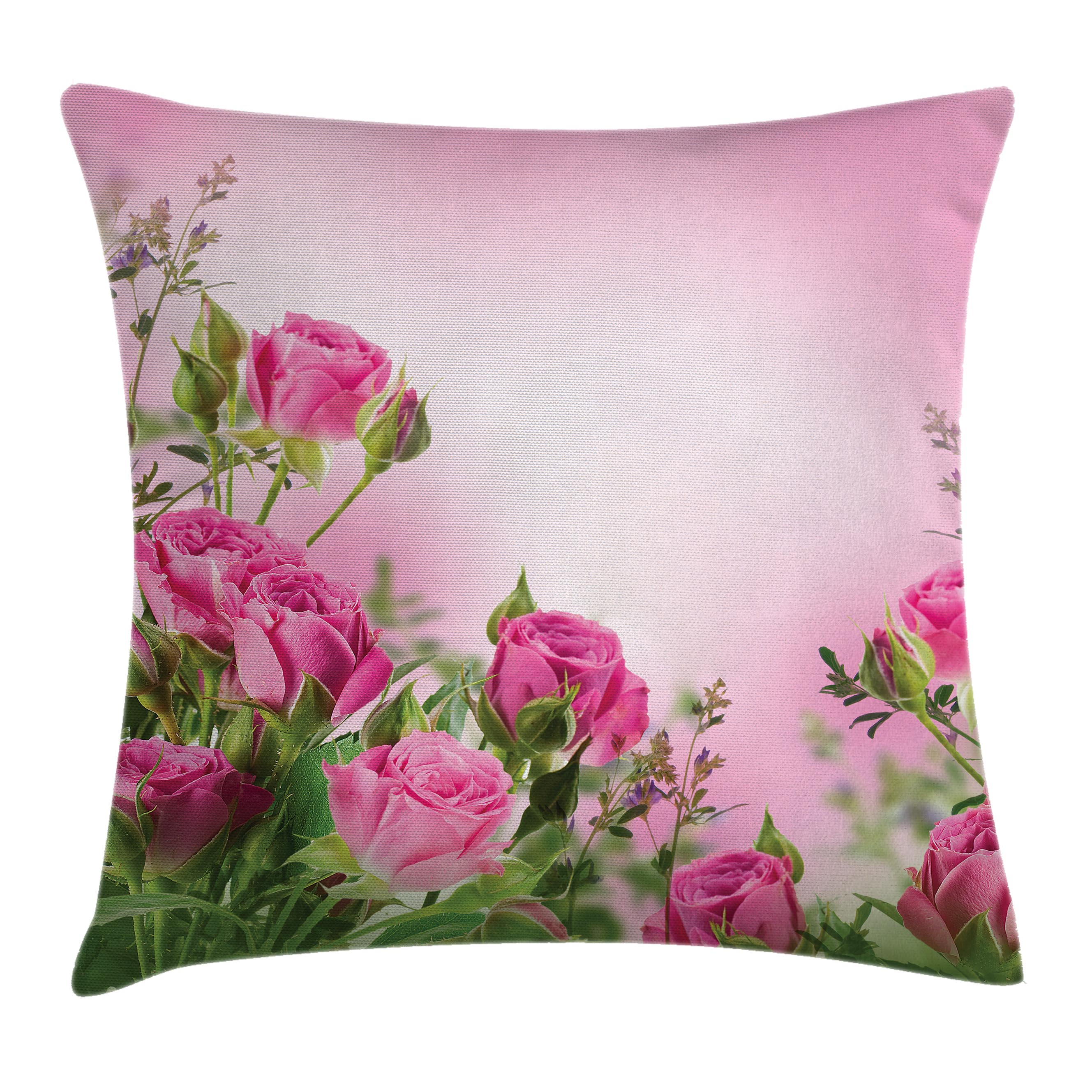 Flower Decor Throw Pillow Cushion Cover Spring Time Roses With