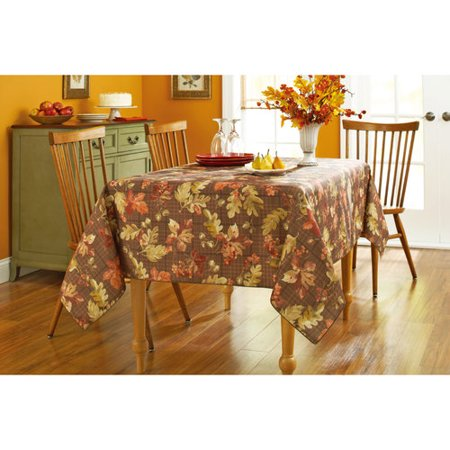 Better Homes And Gardens Oak Leaf Plaid Tablecloth 60 X