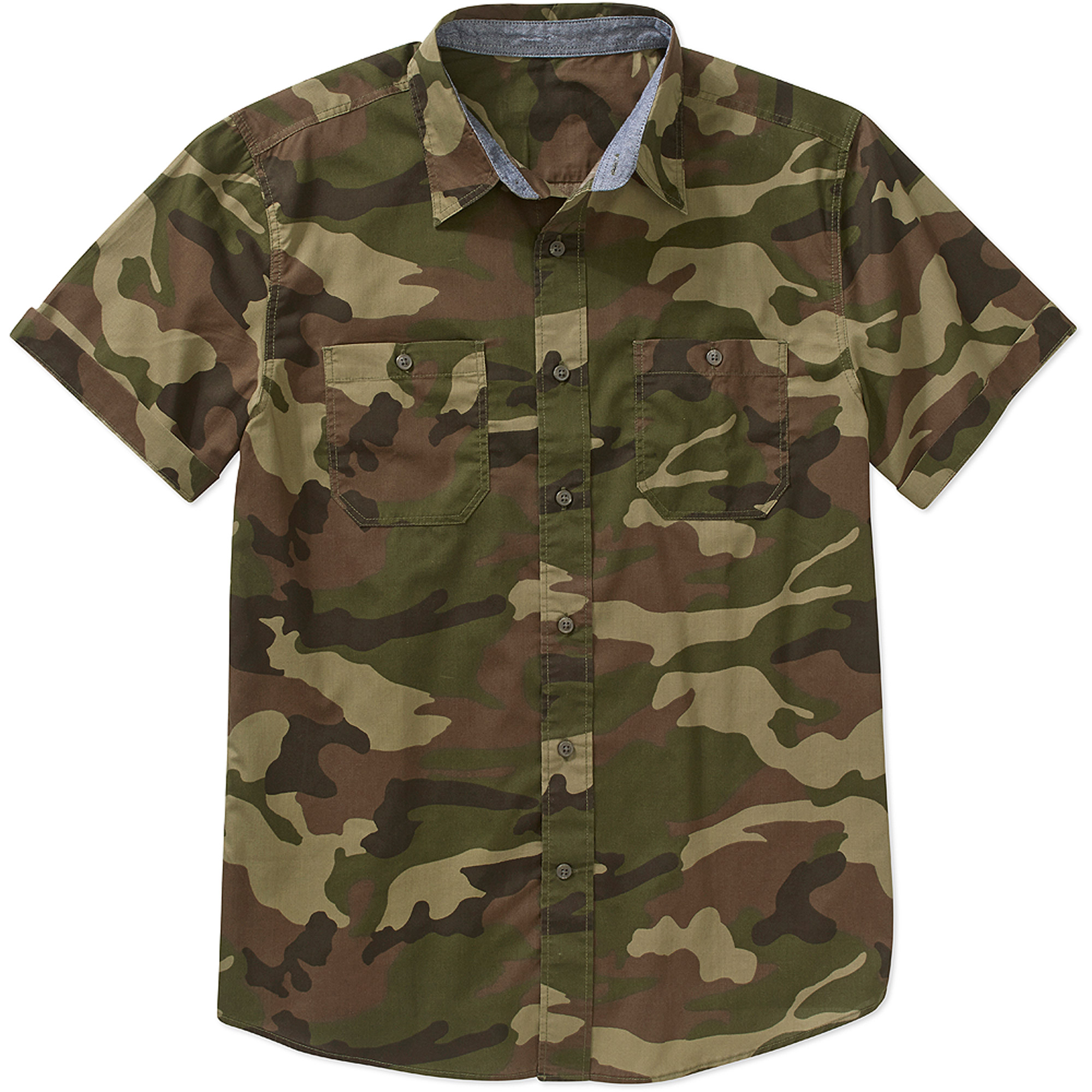 No Boundaries Men's Short Sleeve Shirt