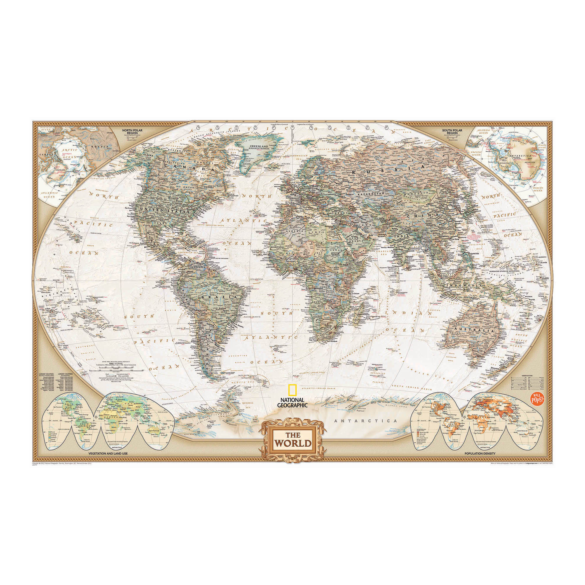Click here to buy National Geographic World Dry Erase Map Decal by WallPops.