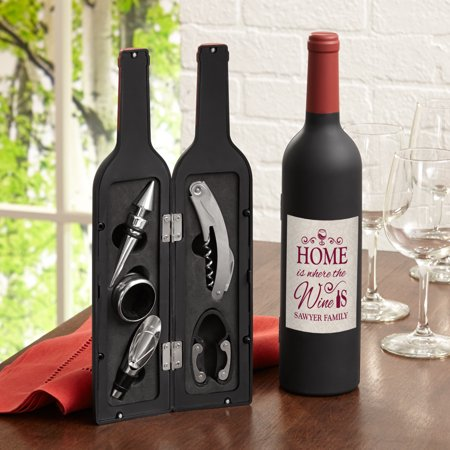 Personalized Home Is Where The Wine Is 5 Piece Tool Set ()