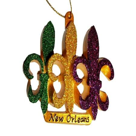 Mardi Gras Supplies In New Orleans (Fleur De Lis New Orleans Ornament Mardi Gras Party)