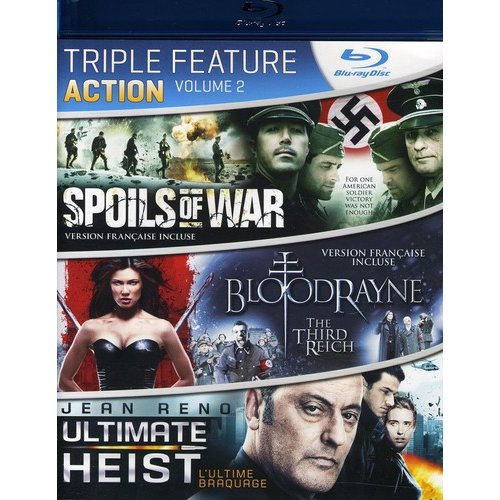 Action Triple Feature: Volume 2 - Spoils Of War / Bloodrayne: The Third Reich / Ultimate Heist (Blu-ray)