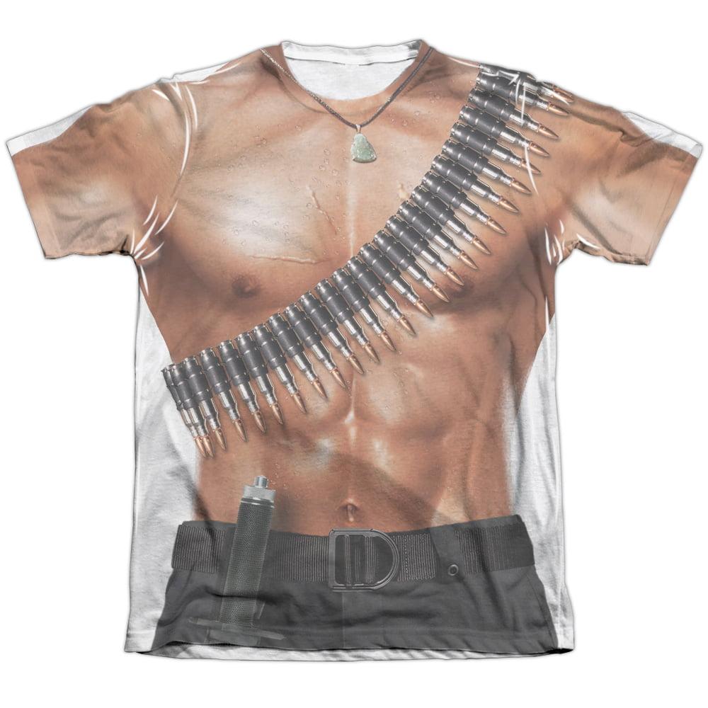Trevco Rambo III Rambo Costume (Front Back Print) Mens Su...
