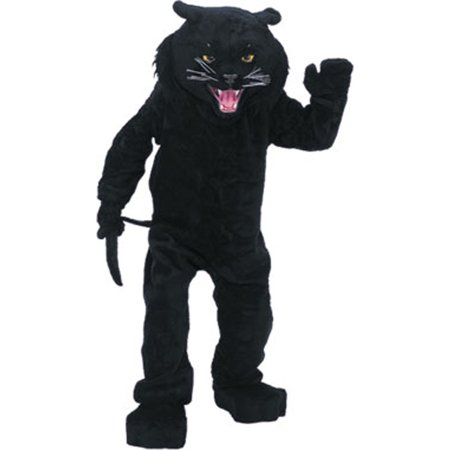 Rubie\'s Costume Co Men\'s Black Panther Mascot Costume One Size Fits Most - Panther Mascot