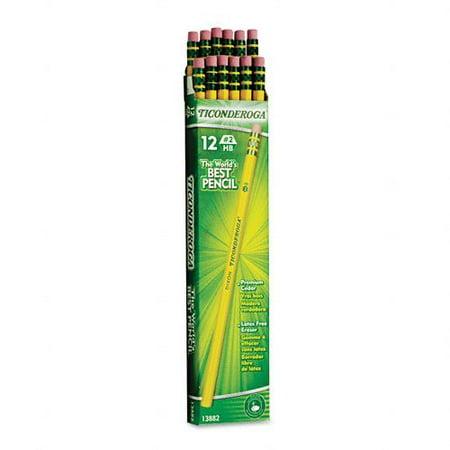 Dixon Ticonderoga Woodcase Pencil, Hb #2, Yellow Barrel-12 ct, 2 pk