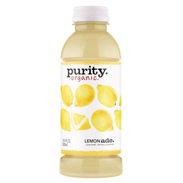 Purity Organic Lemonade 16 oz Plastic Bottles - Pack of 12
