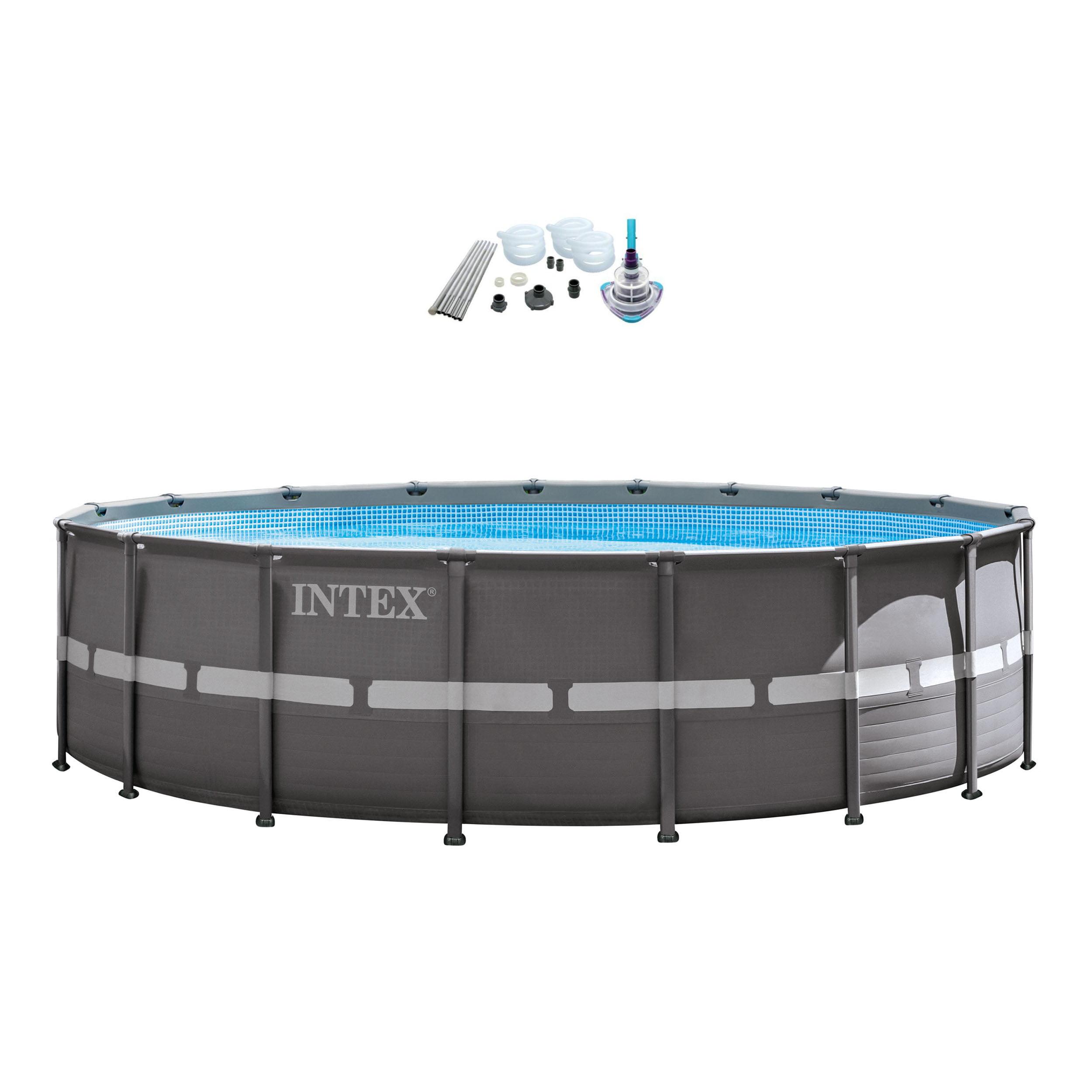"Intex 18' x 52"" Ultra Frame Pool Set with 2100 GPH Sand Filter Pump & V-Trap Vac"