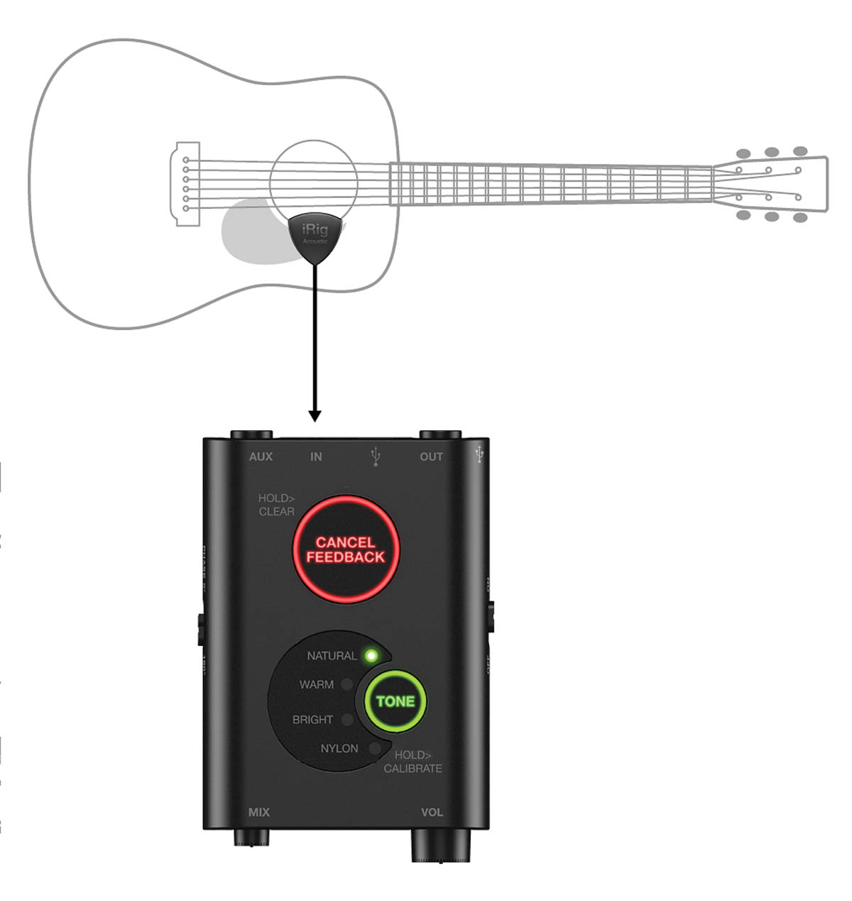 IRIG ACOUSTIC STAGE DUAL MIC PICKUP SYSTEM