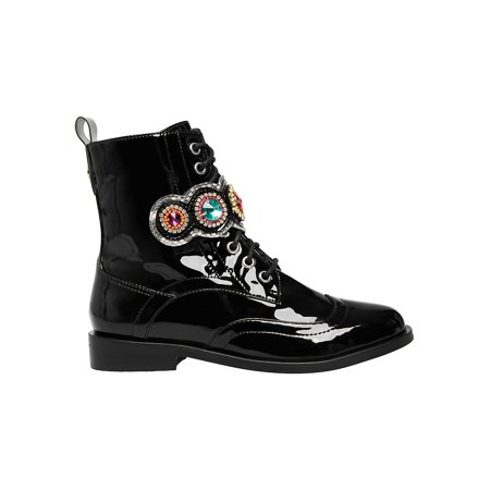 Dexter Embellished Patent Combat Boots ()