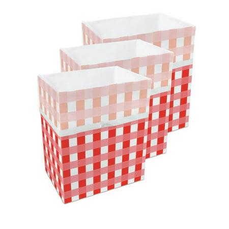 Clean Cubes LLC Picnic Pattern 13 Gallon Trash Can (Set of 3)