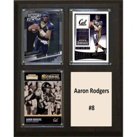 "C & I Collectables NCAA 8"" x 10"" Aaron Rodgers California Golden Bears 3 Card Plaque"