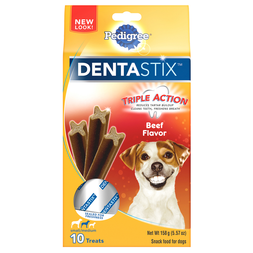 PEDIGREE DENTASTIX Beef Flavor Small/Medium Treats for Dogs - 5.57 Ounces 10 Treats