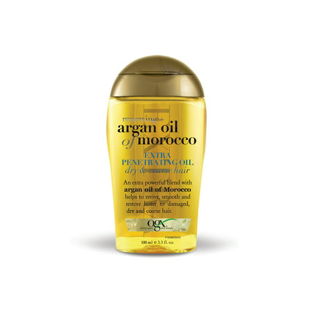 OGX Renewing Moroccan Argan Oil Extra Penetrating Oil, Dry & Course Hair, 3.3 oz - Mens Greaser Hair
