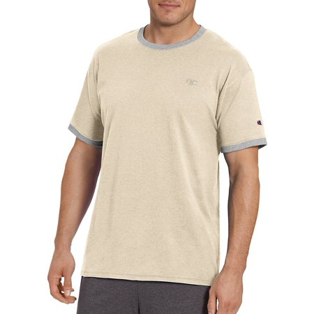 f77f7053 Champion - Champion Men's Classic Jersey Ringer Tee - Size - S - Color -  Oatmeal Heather/Oxford Grey - Walmart.com