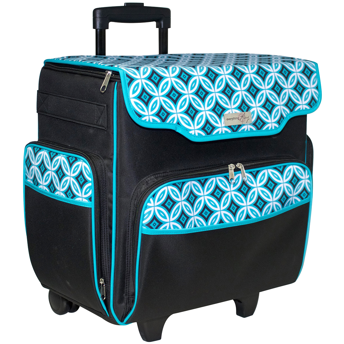 Everything Mary - Everything Mary Rolling Papercraft Tote-Teal Black -  Walmart.com 36c37efcbf
