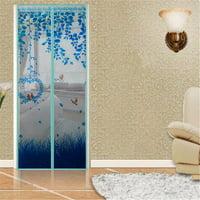 4 Colors 36x83 inch/39x83 inch Magnetic Door Curtain Mesh Screen Magic Closer Automatically Shut Down Door Curtain Mesh Screen