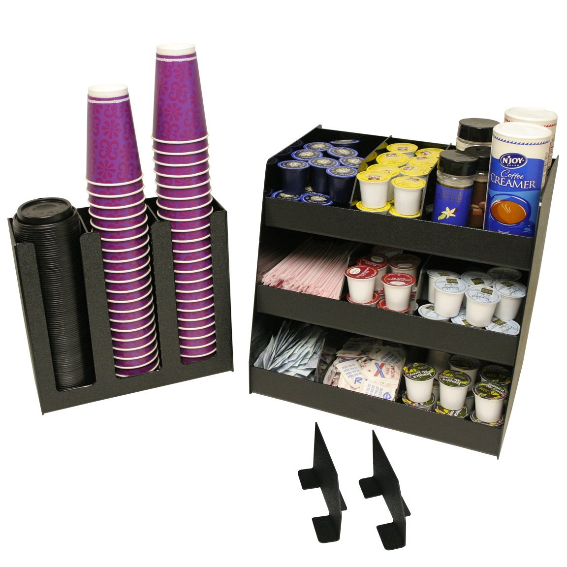 2 Piece Combo, Coffee Condiment & K-Cup Organizer & a 3 Column Cup or Lid Holder.