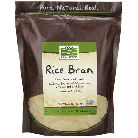 NOW Foods Rice Bran 20 Oz -