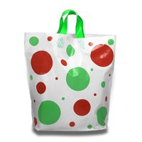 """Holiday Plastic Bags 22"""" X 8"""" X 18"""" Christmas   Quantity: 25 by Paper Mart"""
