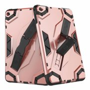 iPad min 4 Case, Dteck Hybrid Shockproof Heavy Duty Cover With Kickstand - Rosegold