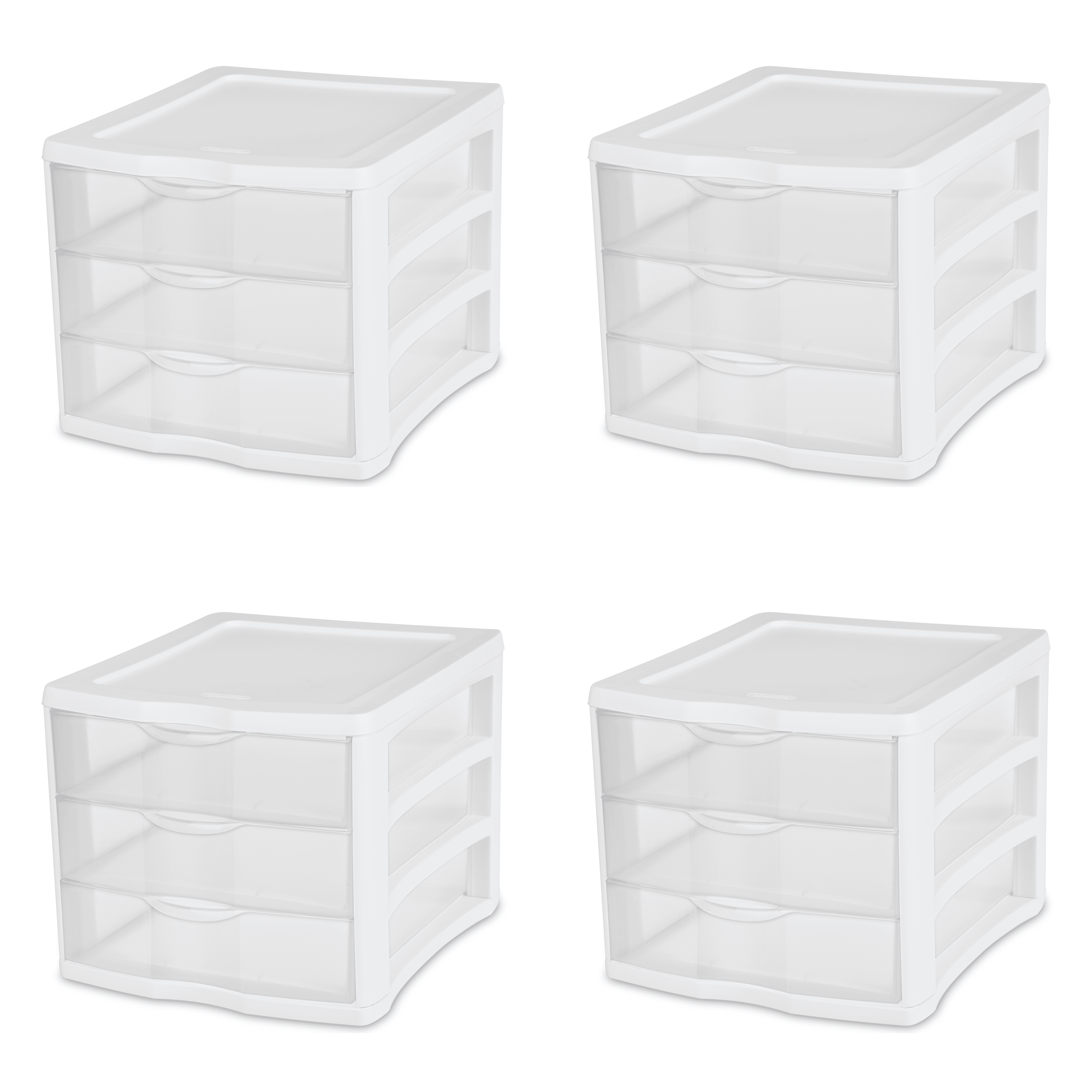 Sterilite 3-Drawer Organizer, White by Sterilite