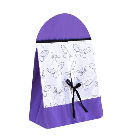 Pam Grace Creations Purple Butterfly Diaper Stacker
