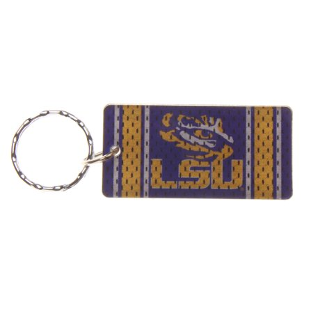 LSU Tigers Jersey Printed Acrylic Team Color Logo Keychain - No (Lsu Acrylic)