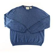 Weatherproof NEW Blue Mens Size Large L V-Neck Pullover Knit Sweater
