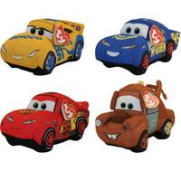 TY Beanie Babies - Cars 3 - SET OF 4 (Cruz, Mater, Hero & Fabulous McQueen)
