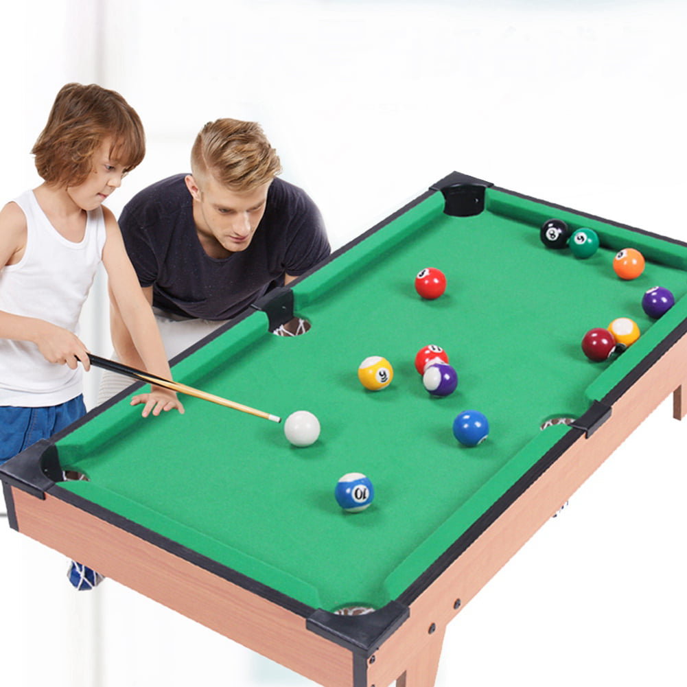 LYUMO Mini Pool Table Children Kids Snooker Billiards Set Cues