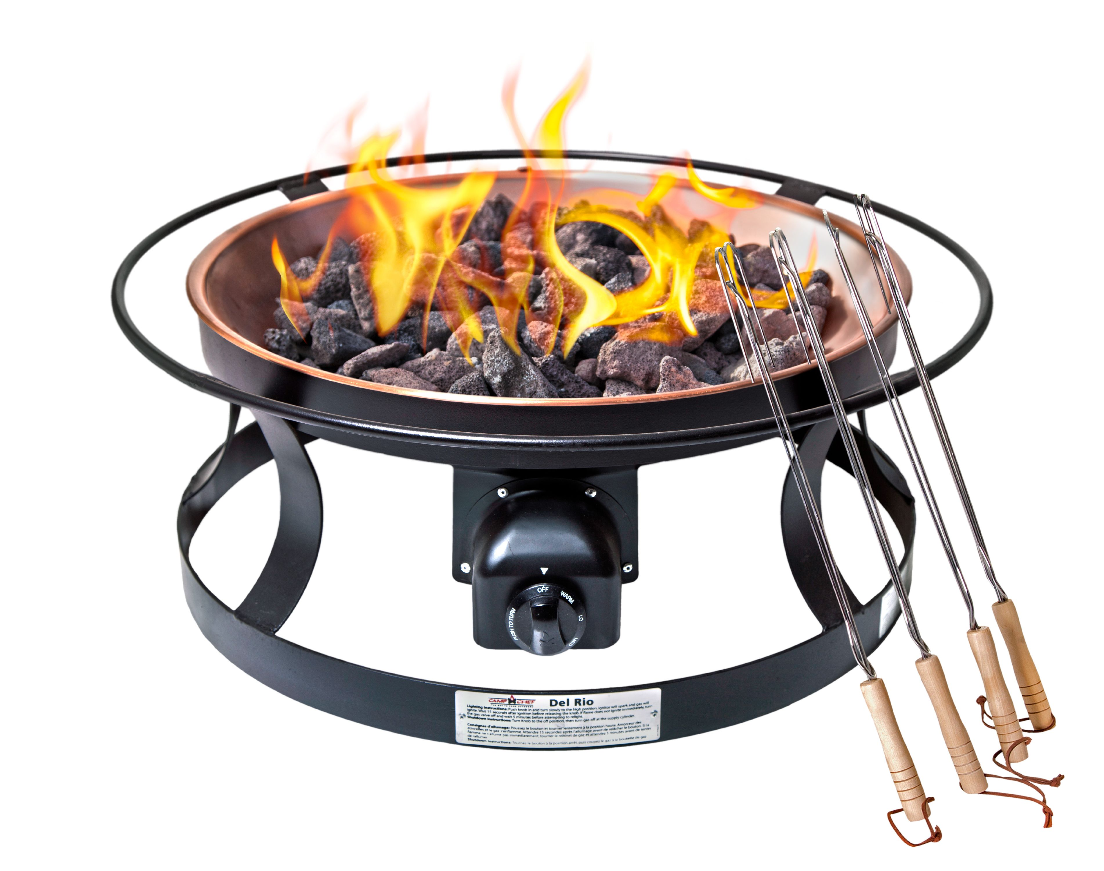 Del Rio Gas Firepit by Camp Chef