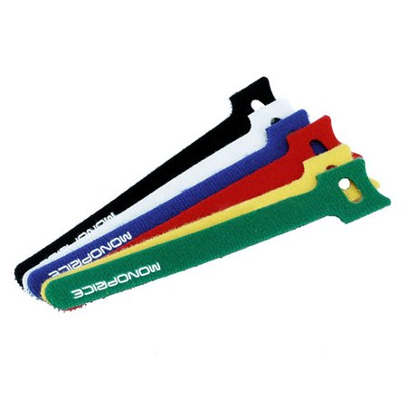 Hook & Loop Fastening Cable Ties, 9 or 6 inch 6, 10, 50, 60, or 100 Pieces per pack - Assorted Colors