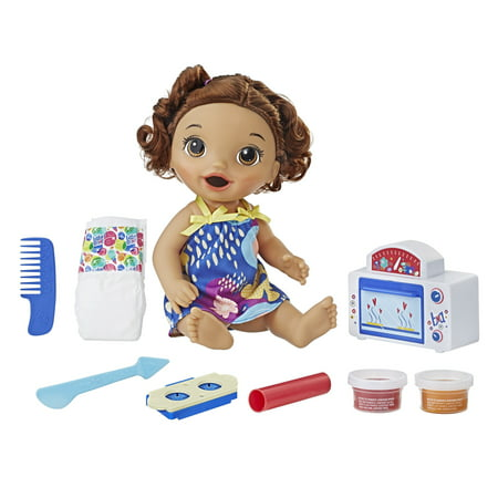 Brown Curls (Baby Alive Snackin' Treats Baby (Brown Curly)