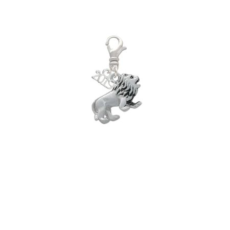 - Silvertone 3-D Lion - 2019 Clip on Charm