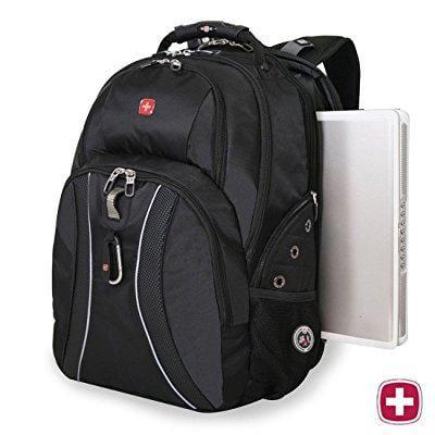 swissgear laptop notebook mac book ipad swiss gear swissgear 17 inch outdoor scansmart backpack premium -alex land only- black