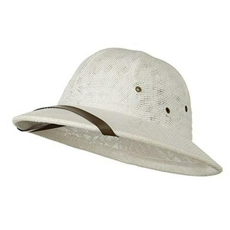 3658239ee68eb Sun Pith Safari Jungle Hat Helmet Sweatband White - Walmart.com