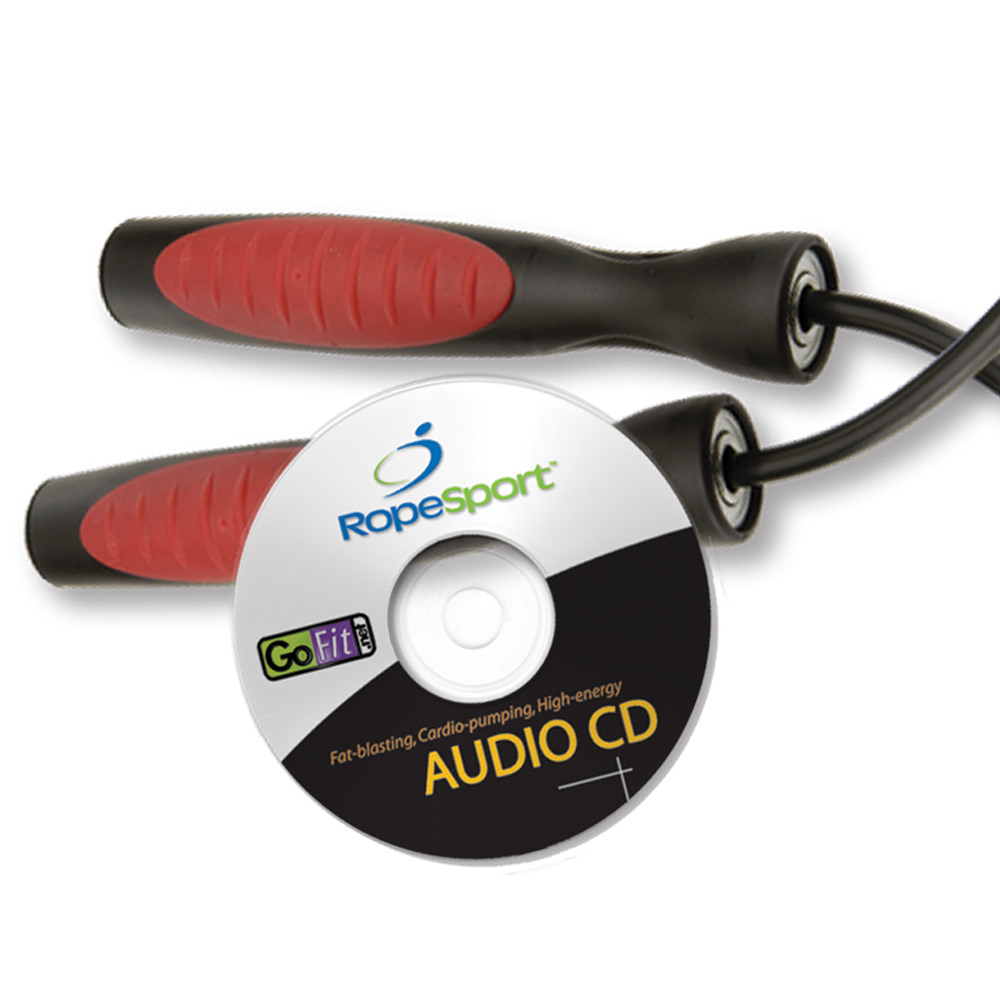 9' Adjustable RopeSport Pro Rope Speed Rope Kit with Audio CD & Jump Book