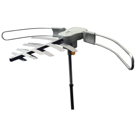 Premium HDTV Long Range Digital TV Antenna, Powered for Maximum Distance Over the Air TV Stations