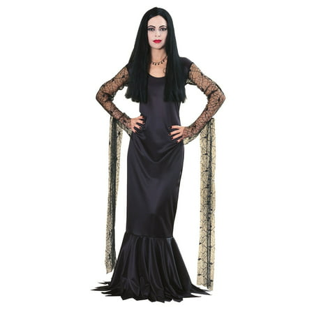 Women's Morticia Addams Costume](Addams Family Wednesday Halloween)
